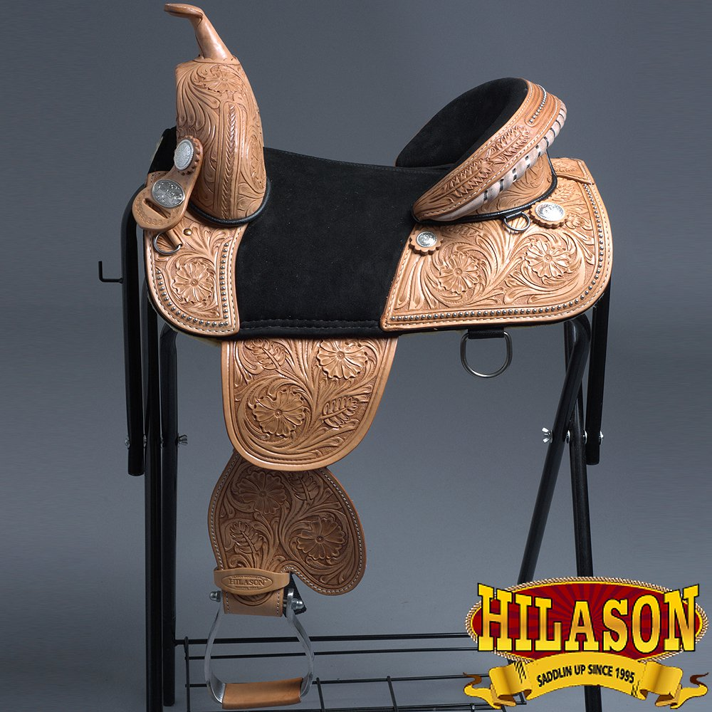 CTW101BZ-F HILASON CLASSIC CHILD TREELESS WESTERN BARREL RACING TRAIL SADDLE 13""