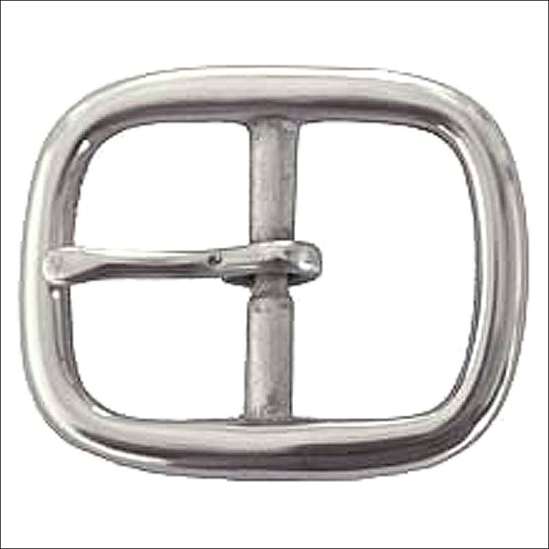 NEW HILASON 1.5 INCH  DC CENTER BAR BUCKLE NICKLE PLATED