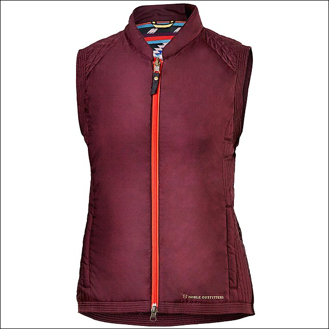 NOBLE OUTFITTERS LADIES ROLLBACK REVERSIBLE POLYESTER ZIPPER VEST
