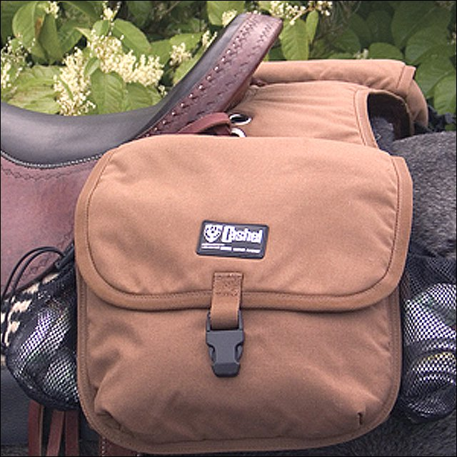 CLASSIC EQUINE HORSE TACK  DELUXE PLUS CANTLE BAG W/ PADDED POCKET BROWN