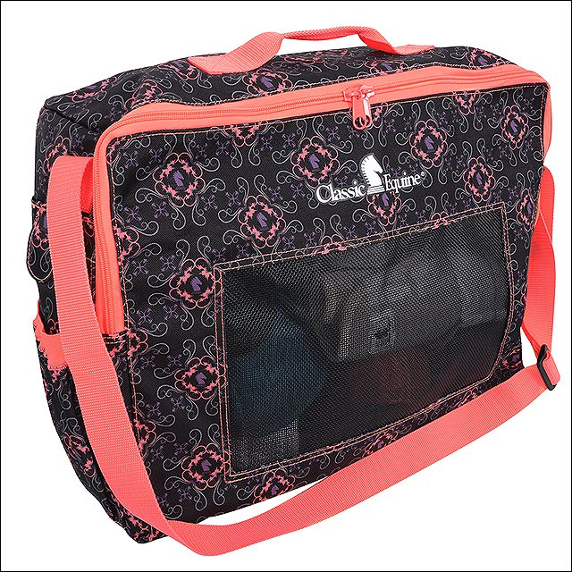 CLASSIC EQUINE HORSE BOOT ACCESSORY CARRYING TOTE BAG CORAL KNIGHTS 6 POCKETS