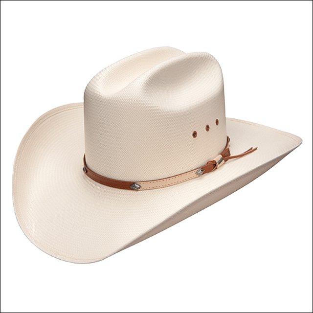 "7 1/4 STETSON GRANTT NATURAL 10X STRAW TAN BAND 4"" BRIM COWBOYS HATS"