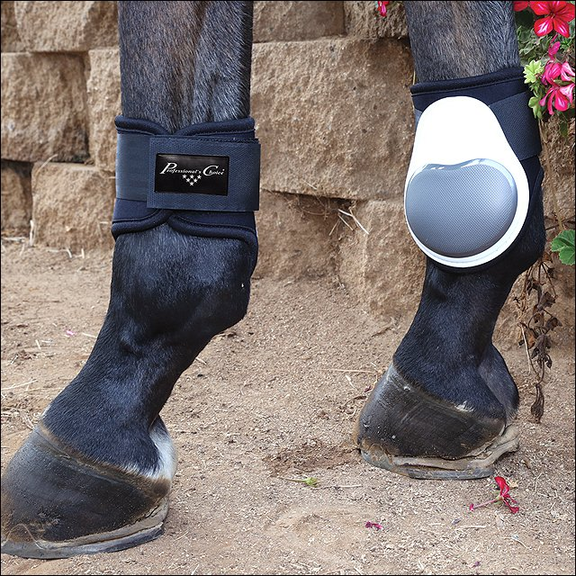 PROFESSIONAL CHOICE PRO PERFORMANCE FETLOCK DURABLE HORSE LEG BOOTS PAIR WHITE