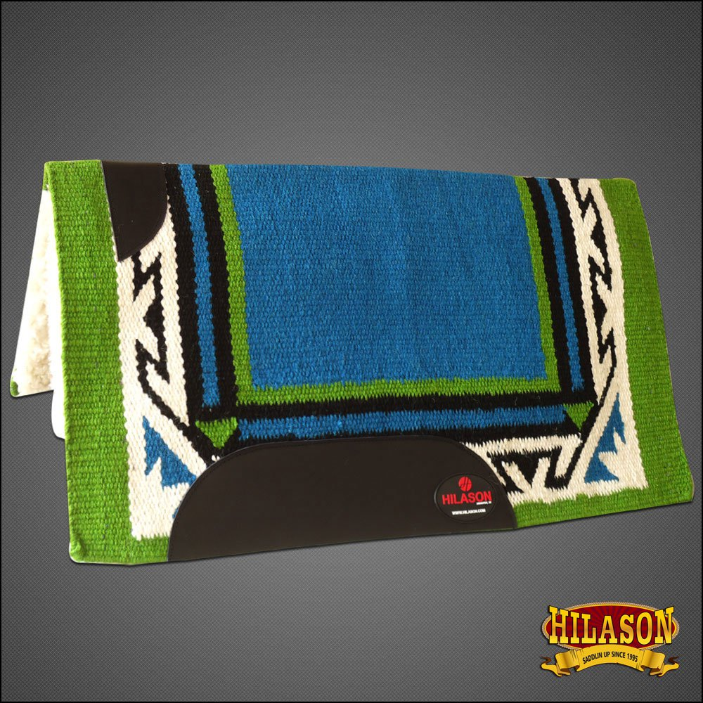 MADE IN USA F222 HILASON WESTERN WOOL FELT SADDLE BLANKET PAD TURQUOISE GREEN