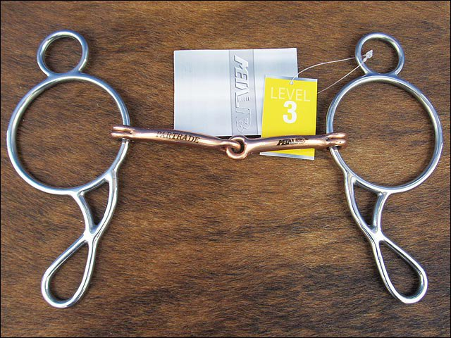 METALAB STAINLESS STEEL WONDER GAG COPPER MOUTH HORSE BIT BY PARTRADE