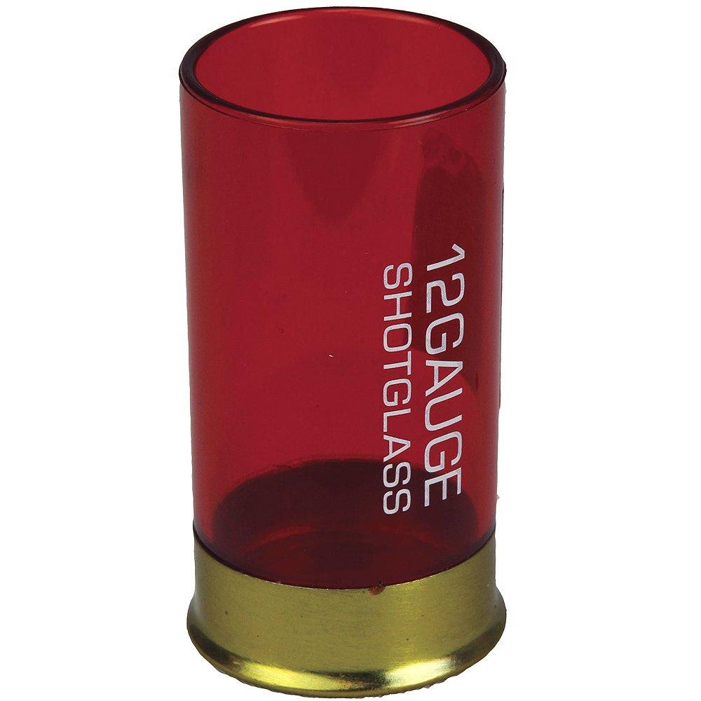 RIVERS EDGE SHOT SHELL RESISTANT PLASTIC SHOT GLASS RED