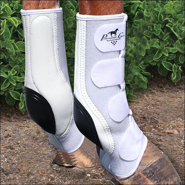 MEDIUM FRONT PROFESSIONAL CHOICE VENTECH SMB SKID HORSE BOOT COMBO 4 PACK WHITE