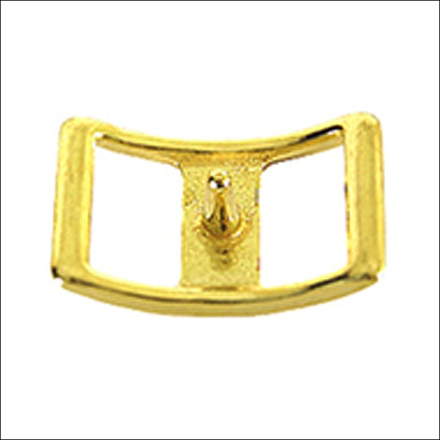 NEW HILASON WESTERN 1/2 INCH  DC CONWAY HORSE BUCKLE-BRASS PLATED