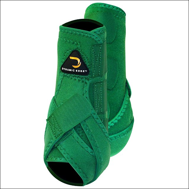 LARGE CACTUS DYNAMIC EDGE HORSE FRONT LEG PROTECTION SPORT BOOTS PAIR GREEN