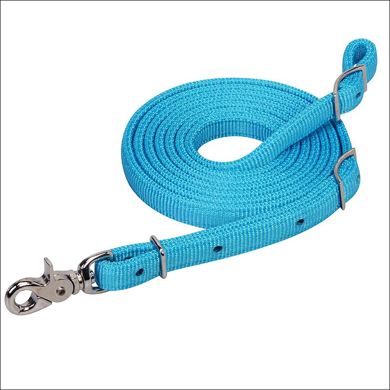 TURQUOISE NYLON TACK HORSE MOSAIC ROPER REIN BY WEAVER LEATHER