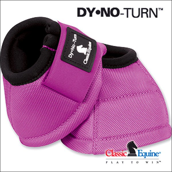 N100F SMALL FUCHSIA CLASSIC EQUINE DYNO HORSE NO TURN BELL BOOTS PAIR