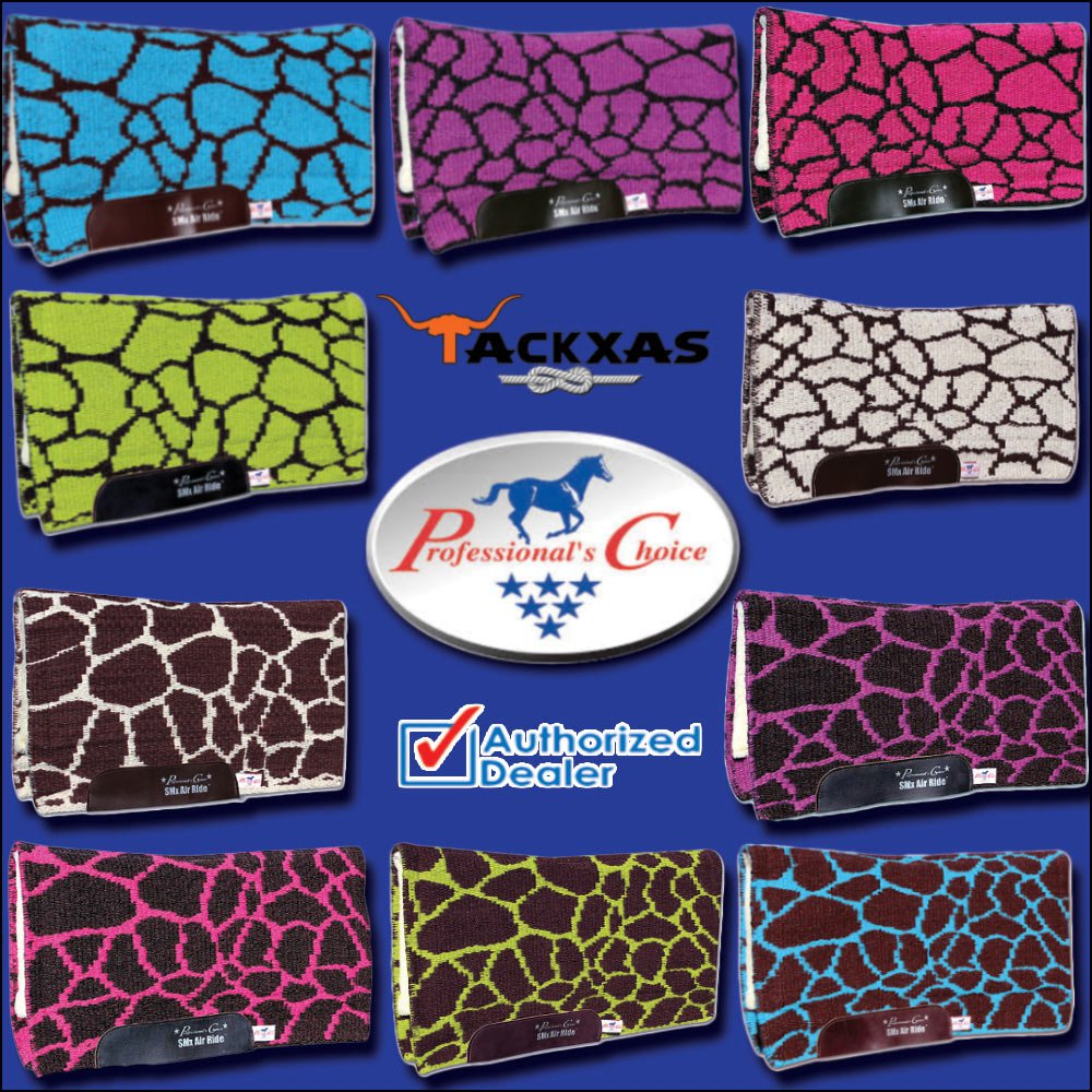 PROFESSIONAL CHOICE COMFORT FIT SMX HD AIR RIDE WESTERN SADDLE PAD GIRAFFE