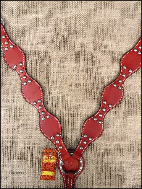 NEW HILASON WESTERN LEATHER HORSE TACK BREAST COLLAR MAHOGANY A309M