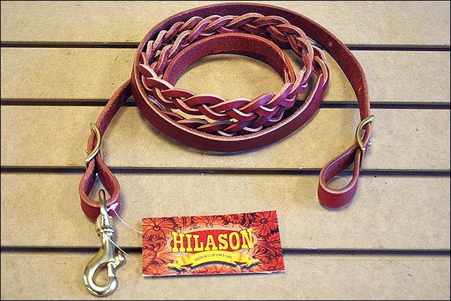 HILAOSN WESTERN THREE PLAITED LEATHER HORSE TACK ROPING REIN
