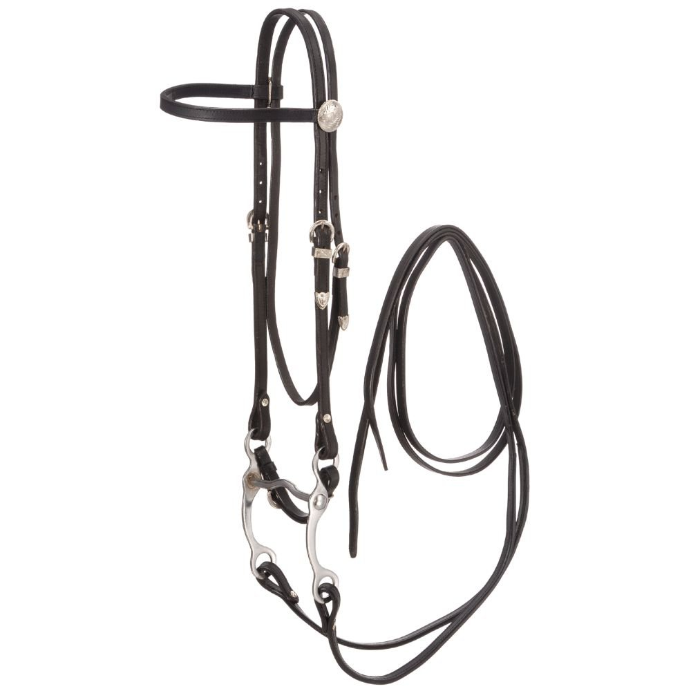 """5/8"""" TOUGH 1 KING SERIES COMPLETE LEATHER BROWBAND BRIDLES BLACK"""