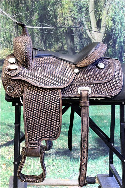 DF101DBROF HILASON WESTERN DRAFT HORSE TRAIL PLEASURE RIDING ENDURANCE SADDLE 17