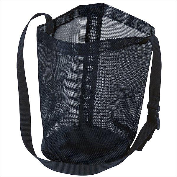 BLACK HILASON MESH FEED BAG WITH HEAVY LOCKING PLASTIC SNAP