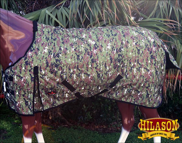 """70"""" HILASON 1200D WINTER WATERPROOF POLY TURNOUT HORSE SHEET CAMOUFLAGE"""