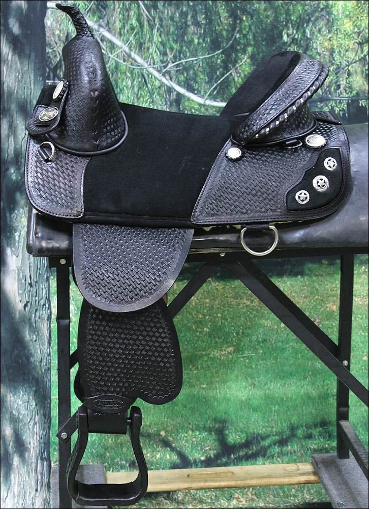 TW107BK HILASON TREELESS WESTERN BARREL RACING TRAIL PLEASURE SADDLE 13 14 15 16