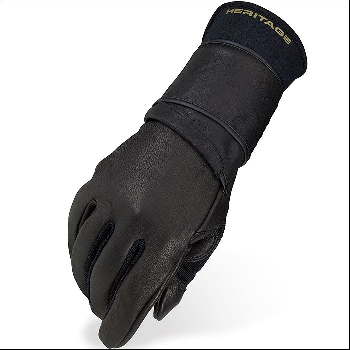 7 SIZE HERITAGE PRO 8.0 BULL RIDING GLOVES HORSE EQUESTRIAN (RIGHT HAND)