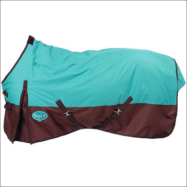 51 inch TOUGH1 TURQUOISE HEAVY WEIGHT 600D WATERPROOF POLY TURNOUT HORSE BLANKET