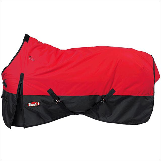 75 inch RED TOUGH1 600D WATERPROOF POLY TURNOUT WINTER HORSE BLANKET