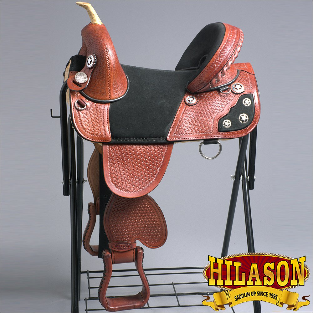 TW107M-F HILASON TREELESS WESTERN TRAIL BARREL RACING LEATHER CHILD SADDLE 13""