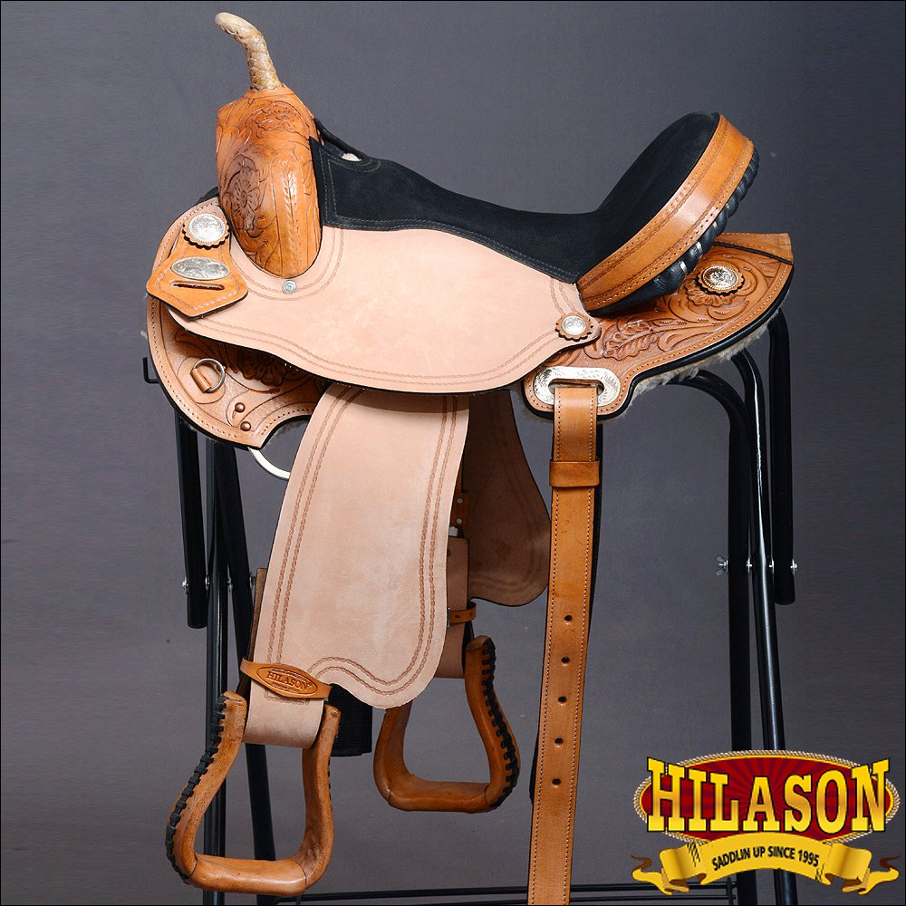 T205GOSTN-F HILASON WESTERN FLEX TREE BARREL RACING TRAIL RIDING HORSE SADDLE 14