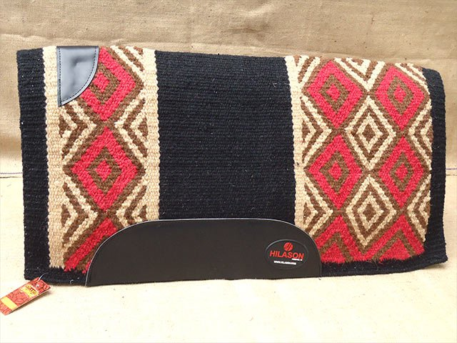 FEP304 HILASON WESTERN NEW ZEALAND WOOL HORSE SADDLE BLANKET black