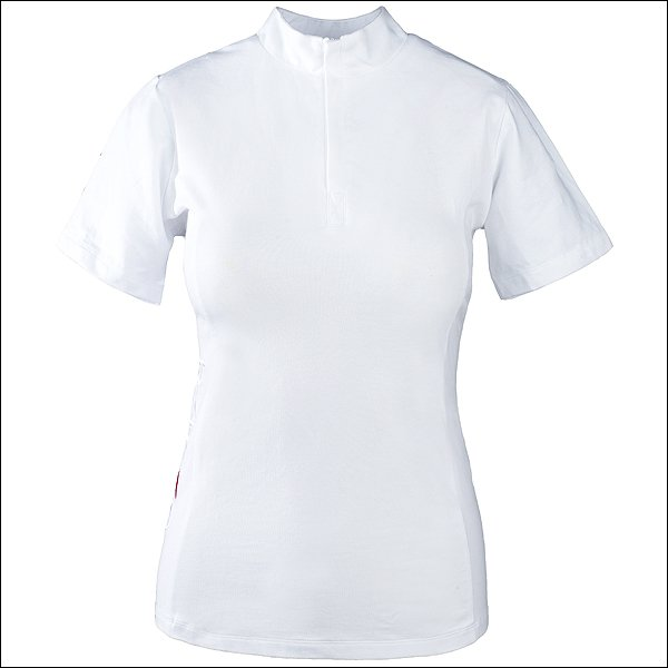 MEDIUM WHITE HORSE COMPETITION RIDING WOMEN SHORT SLEEVE COTTON TSHIRT TOP