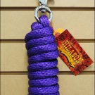 PURPLE HILASON BRAIDED POLY LEAD ROPE NICKEL PLATED MALLEABLE IRON BUFFALO SNAP