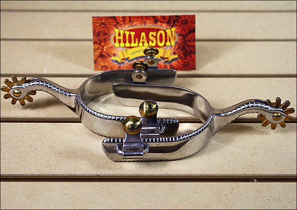 HILASON STAINLESS STEEL MEN SPURS KNOTCHED EDGE PATTERN