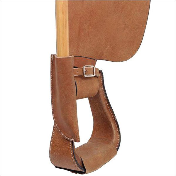 FULL GRAIN LEATHER FLAG POLE POST SADDLE HOLDER FOR PARADES AND CEREMONIES