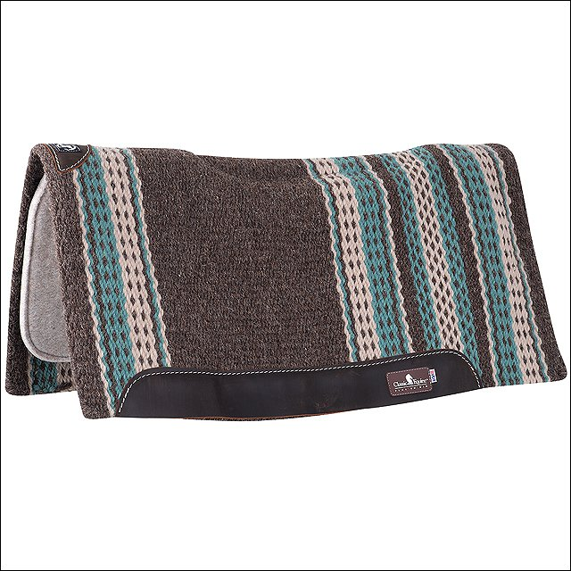 CLASSIC EQUINE ZONE WOOL TOP NEW ZEALAND WOOL DURABLE HORSE SADDLE PAD TEAL