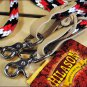 R30 HILASON WESTERN HORSE TACK THREE TONE POLY ROPE REIN W/ NICKEL PLATED SNAPS