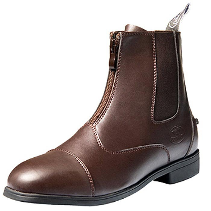 8 SIZE BROWN NEW DEVONAIRE LADIES NORTH PARK ZIP PADDOCK SHOES BOOT