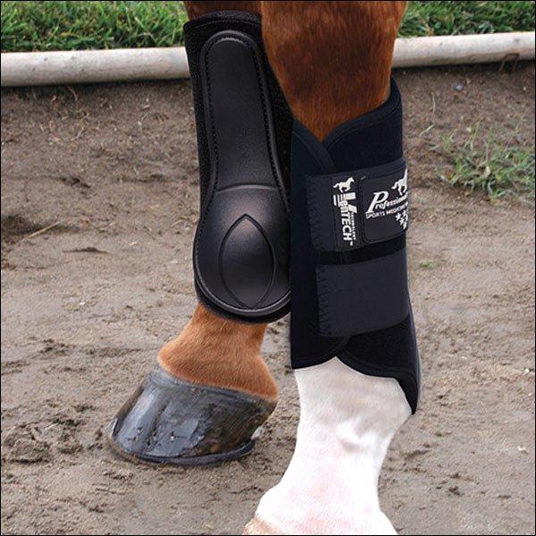 LARGE PROFESSIONAL CHOICE VENTECH SPLINT HORSE LEG BOOT PAIR BLACK