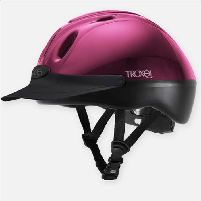 FUCHSIA TROXEL SPIRIT THE NUMBER ONE ALL PURPOSE RIDING HELMET w/ ABS UPPER