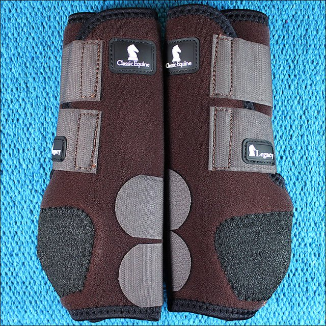 SMALL CHOCOLATE CLASSIC EQUINE LEGACY SYSTEM HORSE FRONT SPORT BOOT PAIR