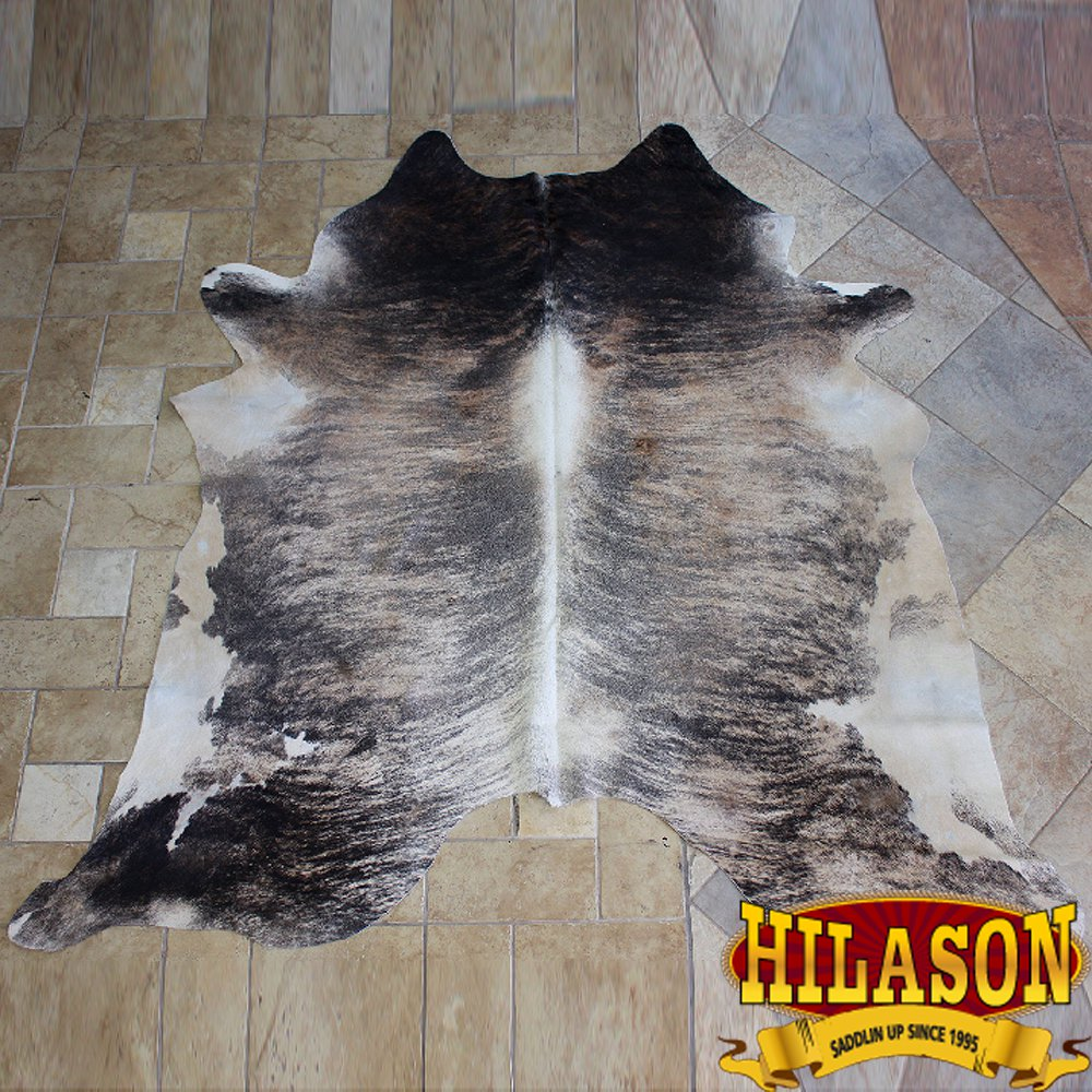 H149F HILASON HAIR ON LEATHER BRAZILIAN COWHIDE SKIN RUG CARPET EXOTIC TRI COLOR