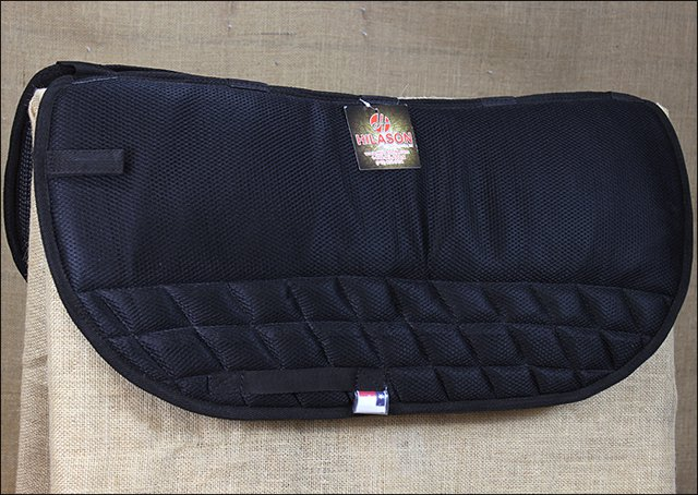 F-TA112 Hilason Western Gel Saddle Pad with Anti-Slip - BLACK