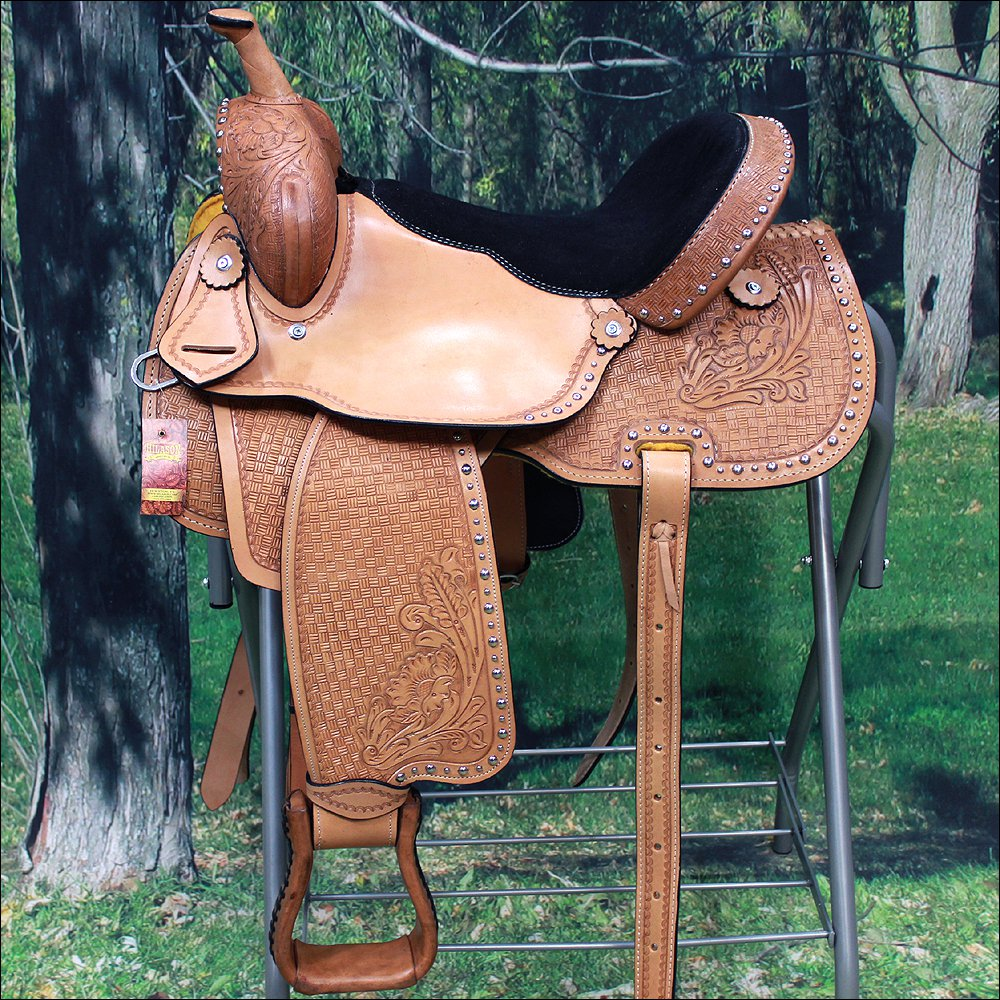 BH093-F HILASON BIG KING Series WESTERN LEATHER RANCH ROPING COWBOY SADDLE 15""