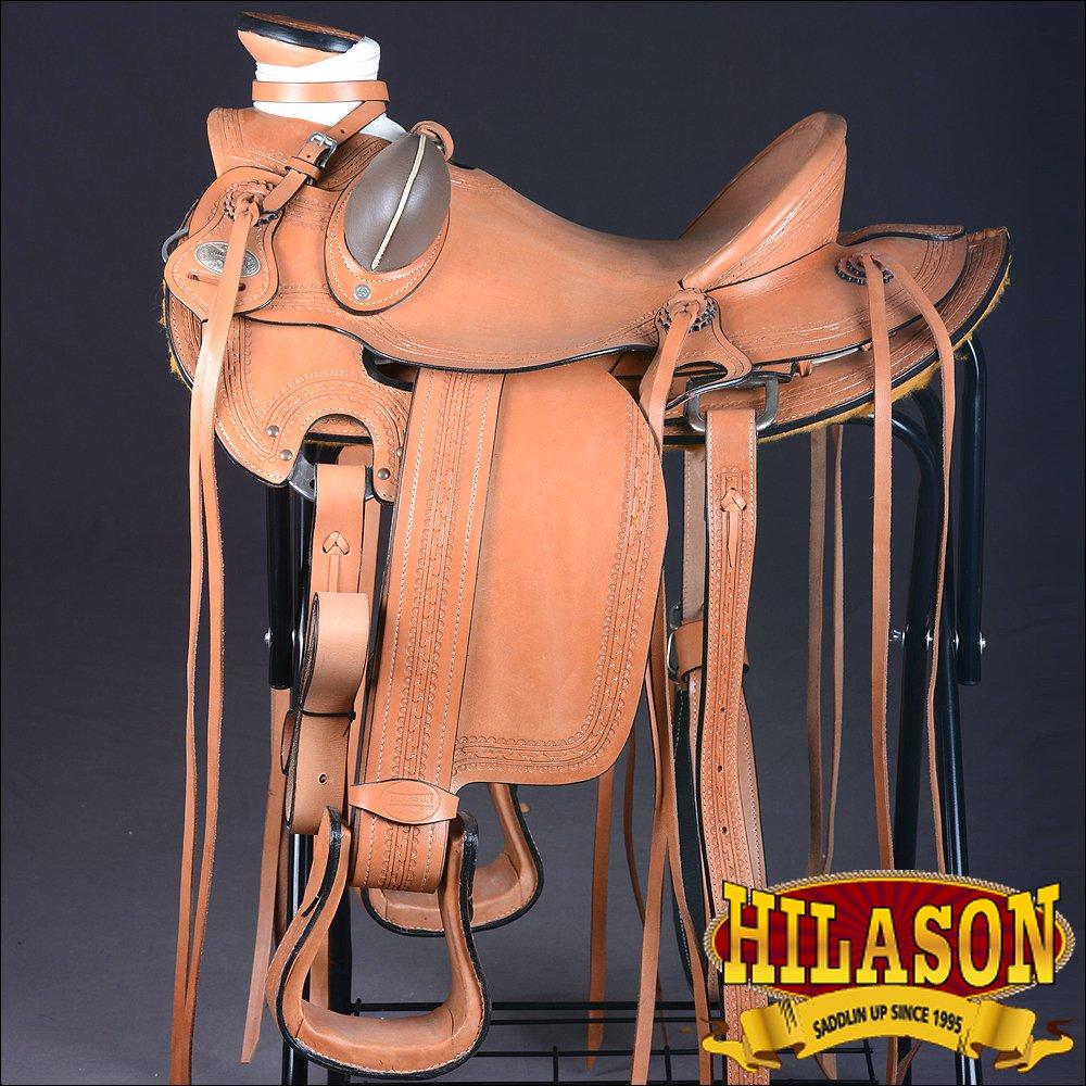 HILASON BIG KING SERIES WESTERN WADE RANCH ROPING COWBOY HORSE SADDLE 15 16 17
