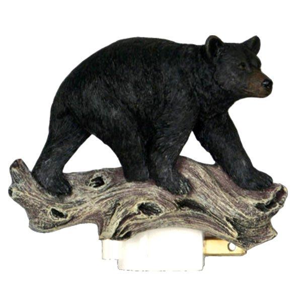 RIVERS EDGE HOME DECOR BEAR 3D NIGHT LIGHT W/ SENSOR WITH BULB INCLUDED