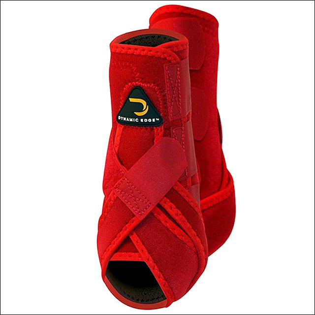 MEDIUM CACTUS DYNAMIC EDGE HORSE FRONT LEG PROTECTION SPORT BOOTS PAIR RED
