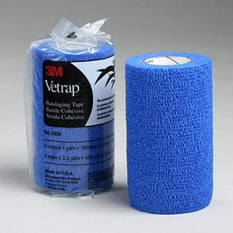 4x5 YD 3M VETRAP HORSE COMFORTABLE BANDAGING TAPE ROLL BLUE