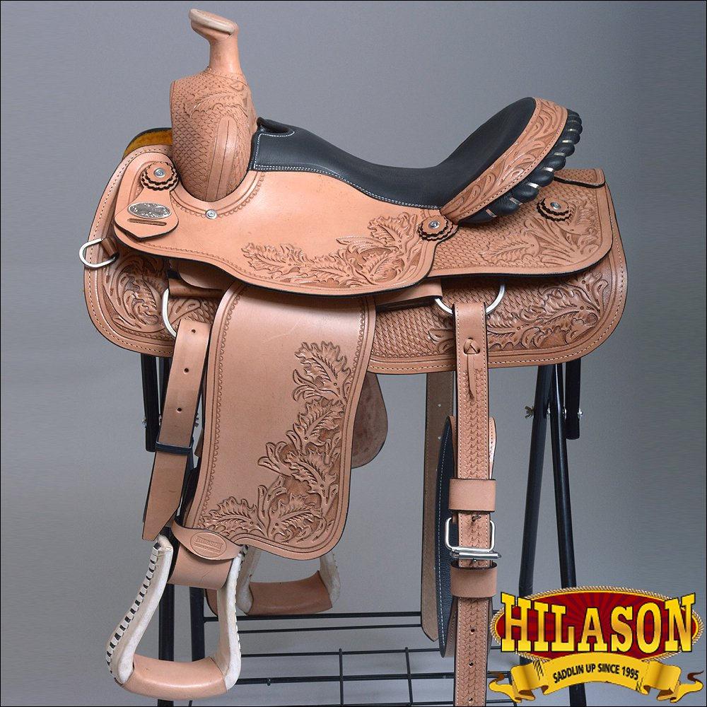 "BH65F HILASON ""BIG KING Series"" WESTERN WADE RANCH ROPING COWBOY TRAIL SADDLE 16"