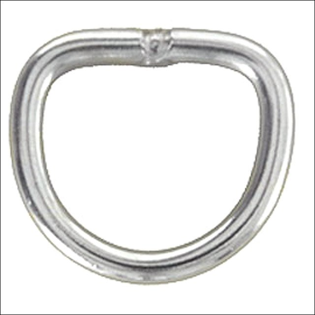 """1"""" HILASON WESTERN HORSE TACK WELDED WIRE NICKEL PLATED DEE RING 50 SET"""