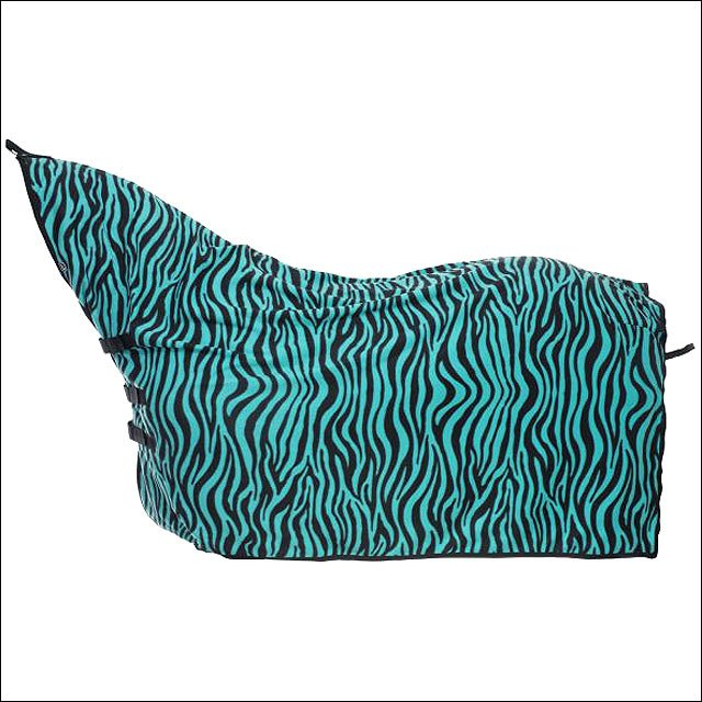 LARGE TURQUOISE ZEBRA TOUGH-1 CONTOUR TACK HORSE WINTER COOLER BLANKET