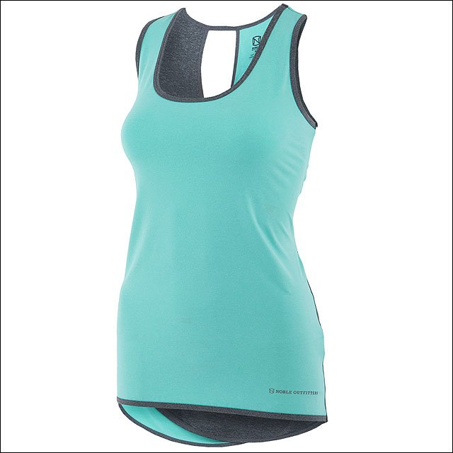 MEDIUM NOBLE OUTFITTTERS LADIES TOP LIL LOVER TANK AQUA SKY HEATHER